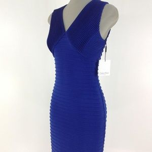 NWT ANNE KLEIN Faux Wrap Sheath Dress